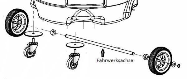 Axle of rear wheel for Fango 2000