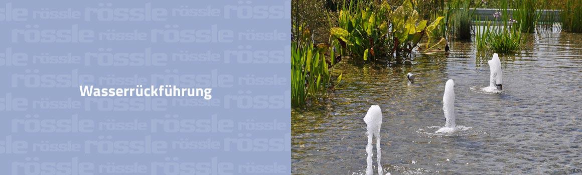Wasserrückführung